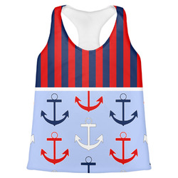 Classic Anchor & Stripes Womens Racerback Tank Top (Personalized)
