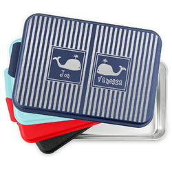 Striped w/ Whales Aluminum Baking Pan with Lid (Personalized)