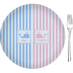 Striped w/ Whales Appetizer / Dessert Plate (8