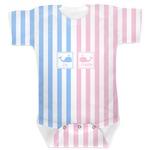 Striped w/ Whales Baby Bodysuit (Personalized)