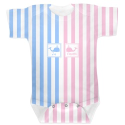 Striped w/ Whales Baby Bodysuit (Personalized)