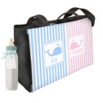 Striped w/ Whales Diaper Bag (Personalized)