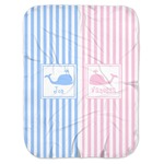 Striped w/ Whales Baby Swaddling Blanket (Personalized)
