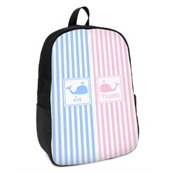 Striped w/ Whales Kids Backpack (Personalized)