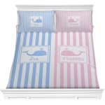Striped w/ Whales Comforter Set (Personalized)