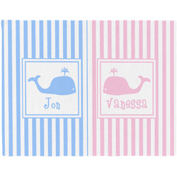 Striped w/ Whales Placemat (Fabric) (Personalized)