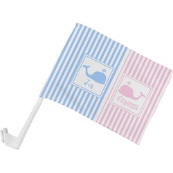 Striped w/ Whales Car Flag (Personalized)