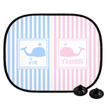 Striped w/ Whales Car Side Window Sun Shade (Personalized)