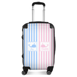 Striped w/ Whales Suitcase (Personalized)