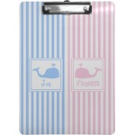 Striped w/ Whales Clipboard (Personalized)