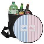 Striped w/ Whales Collapsible Cooler & Seat (Personalized)
