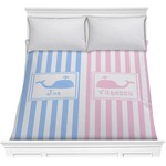 Striped w/ Whales Comforter (Personalized)