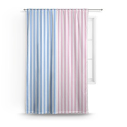 Striped w/ Whales Curtain (Personalized)