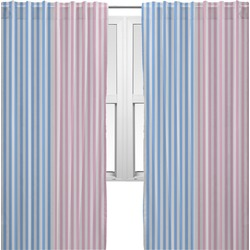 Striped w/ Whales Curtains (2 Panels Per Set) (Personalized)