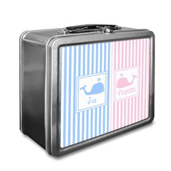 Striped w/ Whales Lunch Box (Personalized)