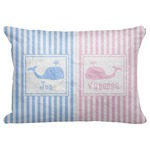 "Striped w/ Whales Decorative Baby Pillowcase - 16""x12"" (Personalized)"