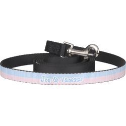 Striped w/ Whales Dog Leash (Personalized)