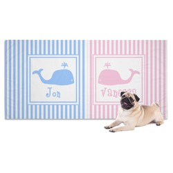 Striped w/ Whales Pet Towel (Personalized)