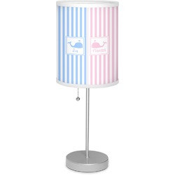 "Striped w/ Whales 7"" Drum Lamp with Shade (Personalized)"