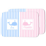 Striped w/ Whales Dish Drying Mat (Personalized)