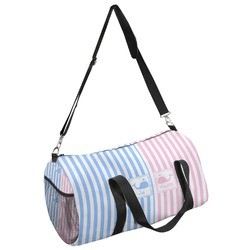 Striped w/ Whales Duffel Bag (Personalized)