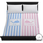 Striped w/ Whales Duvet Cover (Personalized)