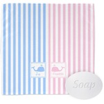 Striped w/ Whales Wash Cloth (Personalized)