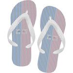 Striped w/ Whales Flip Flops (Personalized)