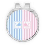 Striped w/ Whales Golf Ball Marker - Hat Clip