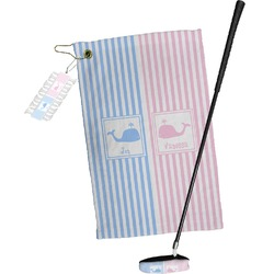 Striped w/ Whales Golf Towel Gift Set (Personalized)