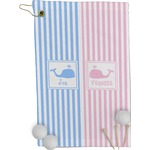 Striped w/ Whales Golf Towel - Full Print (Personalized)
