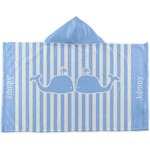 Striped w/ Whales Kids Hooded Towel (Personalized)