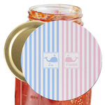 Striped w/ Whales Jar Opener (Personalized)