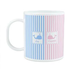 Striped w/ Whales Plastic Kids Mug (Personalized)