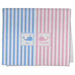 Striped w/ Whales Kitchen Towel - Full Print (Personalized)