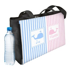 Striped w/ Whales Ladies Workout Bag (Personalized)