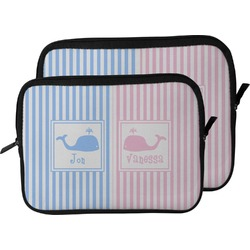 Striped w/ Whales Laptop Sleeve / Case (Personalized)