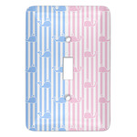 Striped w/ Whales Light Switch Covers - Multiple Toggle Options Available (Personalized)
