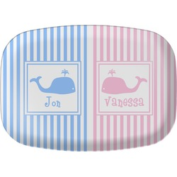 Striped w/ Whales Melamine Platter (Personalized)