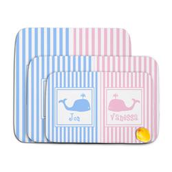 Striped w/ Whales Memory Foam Bath Mat (Personalized)