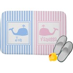 Striped w/ Whales Memory Foam Bath Mat (Personalized)