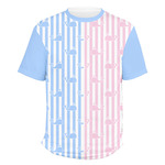 Striped w/ Whales Men's Crew T-Shirt (Personalized)