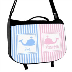 Striped w/ Whales Messenger Bag (Personalized)