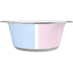 Striped w/ Whales Stainless Steel Pet Bowl (Personalized)