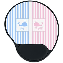 Striped w/ Whales Mouse Pad with Wrist Support