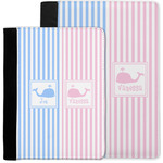 Striped w/ Whales Notebook Padfolio w/ Multiple Names