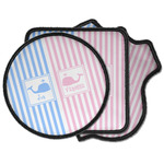 Striped w/ Whales Iron on Patches (Personalized)