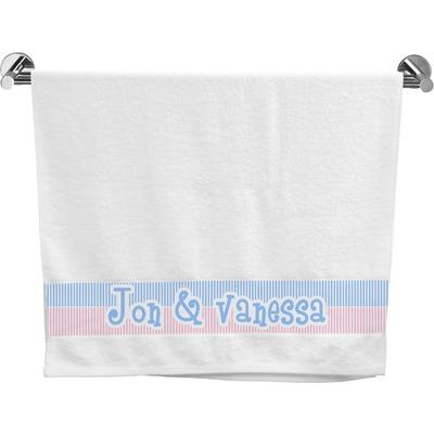 Striped w/ Whales Bath Towel (Personalized)