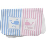 Striped w/ Whales Burp Cloth (Personalized)