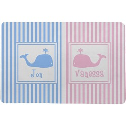 Striped w/ Whales Comfort Mat (Personalized)